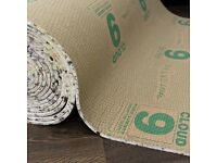 Cloud 9, 11mm Thick Carpet Underlay for £55 per Roll.