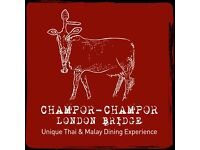 COMMIS CHEF URGENTLY NEEDED IMMEDIATE START *48 HOURS PER WEEK* Champor Champor restaurant