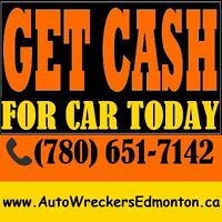 ✔✔GET CASH FOR JUNK CAR AND AUTO DISPOSAL, CALL (780) 651-7142✔✔