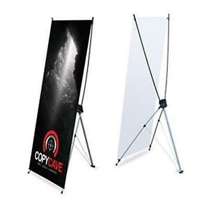 X-FRAME BANNER STAND 24x60 - Low Cost Trade Show Display Including Printed Colour Vinyl Banner - Only $80.50!