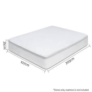 King Single Waterproof Bamboo Fibre Mattress Protector Fitted F