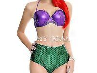 New Womens Bandage Mermaid High Waist Bikini size S