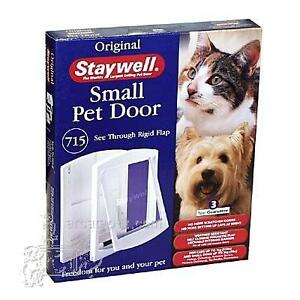 Staywell Small Pet Door 715 see through rigid flap, new