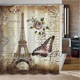 Parisian shower curtains