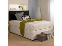 PURCHASE NOW REDUCED PRICES White Fabric Divans Brand New Double Single King Size Divan & Mattresses