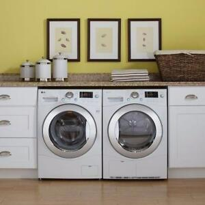 "LG STACKABLE 24"" Washer +  Ventless Dryer WM1377hw / DLEC855w - $1799"