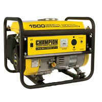 Generator for power tools or RV Champion 1500