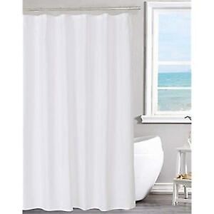N 26amp Y Home Fabric Shower Curtain Liner Solid White Hotel Quality Water 70