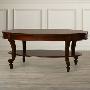 Classic coffee table and end table from Wayfair