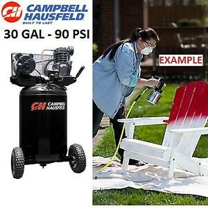 NEW* CAMPBELL AIR COMPRESSOR VT6367 208821228 HAUSFELD 30 GAL VERTICAL PORTABLE SINGLE STAGE 5.5CFM 2HP 120/240V 90PSI