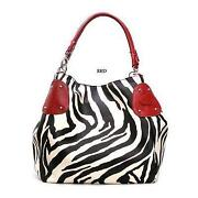 Red Zebra Purse