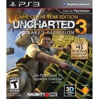 Uncharted 1and 2 and 3 for Ps3