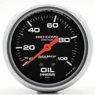 AUTOMETER PRO COMP OIL PRES GAUGE 0-100PSI 2-5/8 AU5421 liquid Glenorchy Glenorchy Area Preview