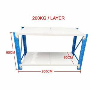 2x0.9M Steel Garage Warehouse RackShelves Work Bench Shelf Revesby Bankstown Area Preview