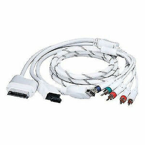 6 ft. 4-in-1 5RCA Component Cable for Xbox 360, Wii, PS3 and PS2