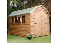 12x8 BARN (HIGH QUALITY) £1134.00 ANY SIZE (FREE DELIVERY AND INSTALLATION)