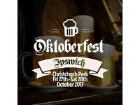 Oktoberfest Saturday Afternoon - Seating - Ipswich, Christchurch Park
