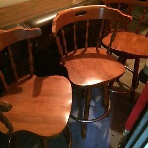 Bar & wooden swivel bar stools St. John's Newfoundland image 4
