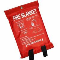 Fire Blanket Home Kitchen Work Place Safety Quick Release Fighting Protection 1m - unibos - ebay.co.uk