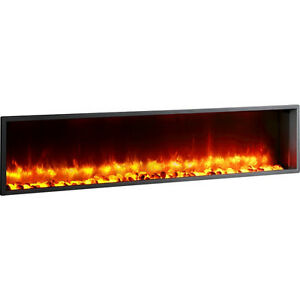 "63"" Built-in LED Wall Mount Electric Fireplace (Free Shipping)"