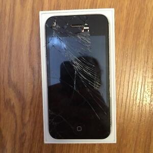 IPhone 4S- Cracked Screen