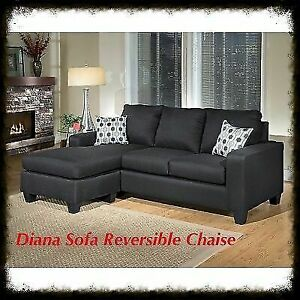 Canadian made L shape sectional with reversible chaise.