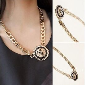 Lion statement neck of gold chain big Christmas xmas gift present brand new