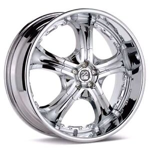 """TIS 22"""" rims with tires chevy/gmc truck"""