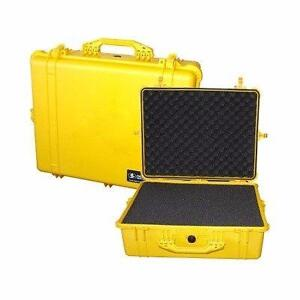 New, Pelican 1600 Case with Foam Set (Yellow)