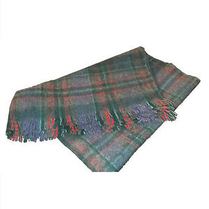 Vintage wool Highland blanket/throw