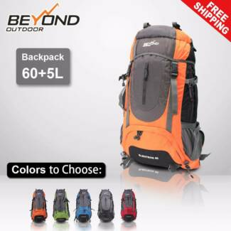 Details about  60L + 5L Outdoor Backpack Rucksack Bag Hiking Cam