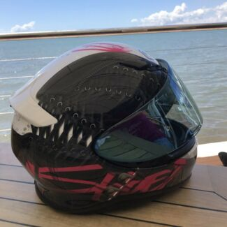 Motorcycle Helmet - Shoei Pink Lace  with mirror  lense option