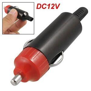 12v universal male car cigarette lighter socket plug connector adaptor 9