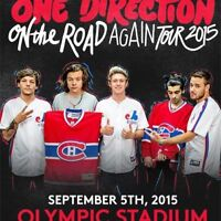 1 ONE DIRECTION TICKET FOR MONTREAL SHOW