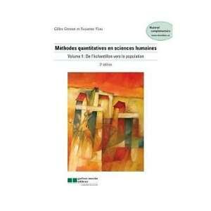 Méthodes quantitatives en sciences humaines 3e édition