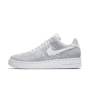 Nike Air Force 1 Ultra Flyknit Low White/Grey Size 10