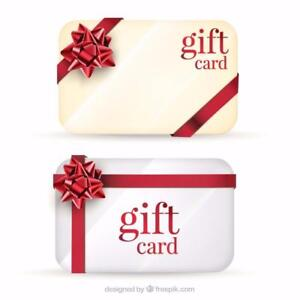 Gift Cards Printing as low as $0.10/ea
