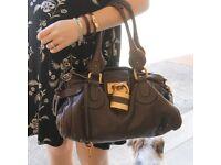 Used Chloe Lock Designer Handbag