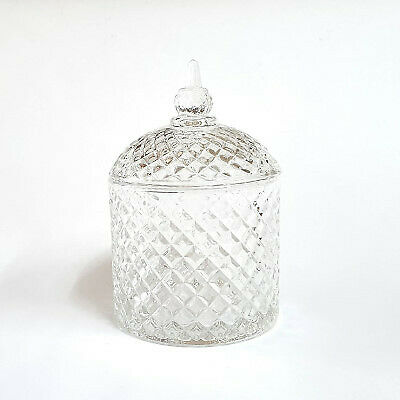 NEW Glass Container Storage Candle/Sugar Ball Jar with Lid 9
