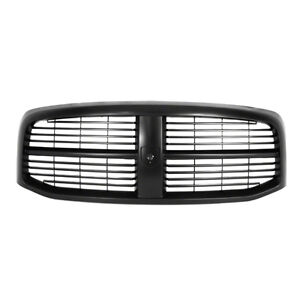 NEW 2006-2008 DODGE RAM BLACK ON BLACK PAINTABLE GRILLE
