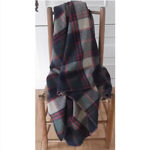 Vintage Plaid Wool Throw