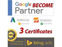 AdWords, Analytics, Bing ads Certifications. Become a Google AdWords Certified Professional