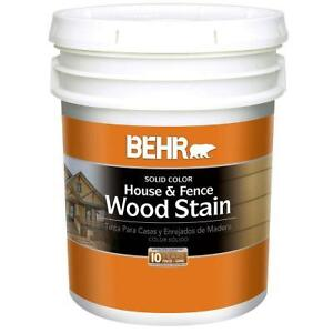 Behr Solid Colour House & Fence Wood Stain
