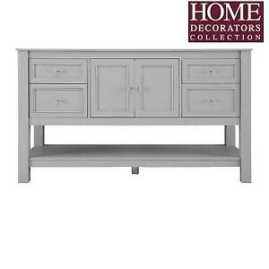 NEW 60'' BATH VANITY CABINET GAGA6022DS 211219201 HOME DECORATORS COLLECTION GREY GAZZETTE