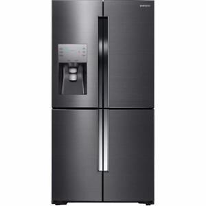Réfrigérateur de 22,5 pi³ adaptable à 4 portes en acier inoxydable noir à profondeur comptoir Samsung ( RF23J9011SG )