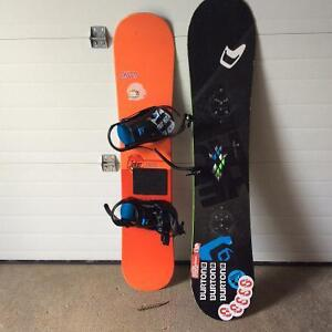 2 greate shape snow boards and boots