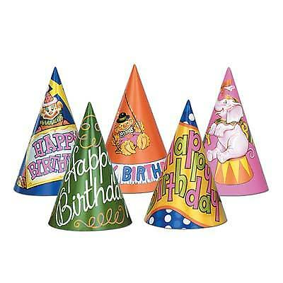 Happy Birthday Hats (Happy Birthday Cone Hats Assorted)