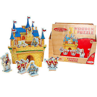 3D WOODEN PUZZLE CASTLE MODEL CONSTRUCTION JIGSAW MODELLING KIT KING QUEEN TOY