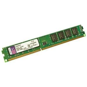 Kingston ValueRAM 8GB - 1333MHZ (PC3-10600) - KVR1333D3N9/8G - DDR3 Slim Ram