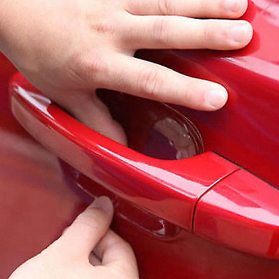 8x Car Universal Invisible Car Door Handle Scratches Protective Protector Films